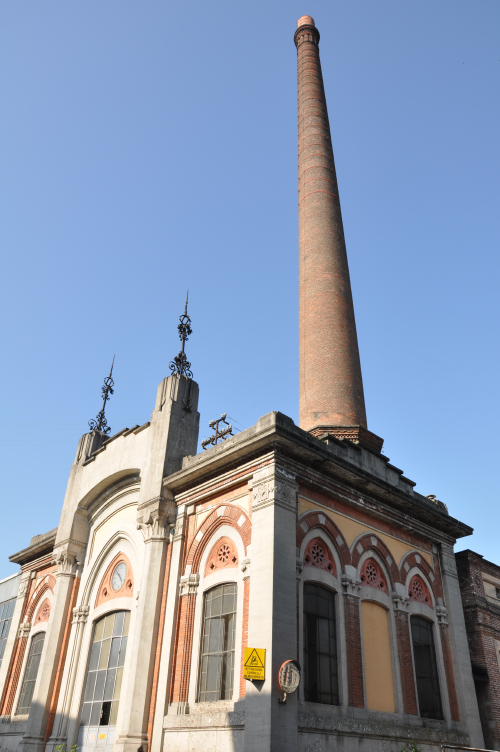 Smoke stack in Crespi d'Adda
