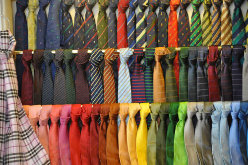 Rainbow of Silk Ties in Bellaggio