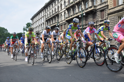 Giro d'Italia Circuit Race in Milan (I have a few of Lance Armstrong)